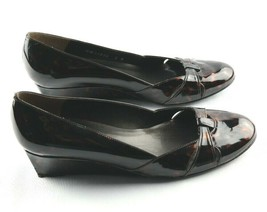 Stuart Weitzman Pumps Womens Sz 8 M Brown Tortoise Patent Leather Wedge ... - $44.99