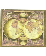 World Map Frederik De Wit Vintage 11X14 Matted Gold Foil Print - $14.99