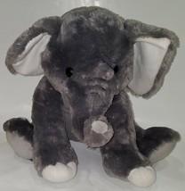 "Fiesta Gray Elephant Plush 15.5"" Stuffed Animal Toy Lovey White SOFT  - $22.72"