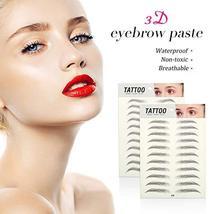 TMYIOYC Eyebrow Tattoo Stickers, 8 Styles Eyebrow Shapes Imitation Waterproof Na image 2