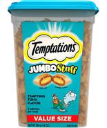 Temptations Jumbo Stuff Cat Treats, Tempting Tuna Flavor, 14 Oz Tub - $12.99