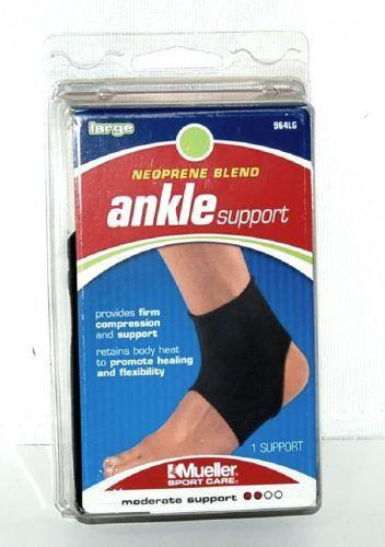 Mueller 964LG Neoprene Blend Ankle Support Size Large Color Black