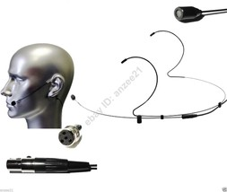 2x Black Dual Hook Headset Omi-directional Microphone for Shure Bodypack - $39.50