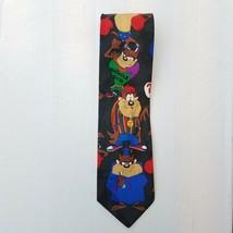 Looney Tunes Mania Neck Tie Taz Tazmanian Devil 1993 Graduation Hip hop Muscles - $4.99