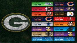 Green Bay 2017 schedule turf Poster 24 X 36 inch  - $18.99