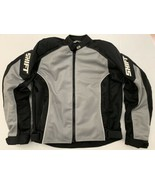 SHIFT HEAVY PADDED MOTORCYCLE GRAY AND BLACK RACING JACKET MENS ADULT Large - $55.10