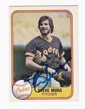 Steve Mura Autographed Card 1981 Fleer San Diego Padres - $3.98