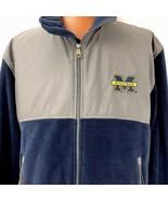 Majestic Mens Michigan Full Zip Fleece Coat Size XL Blue Gray Jacket - $49.49