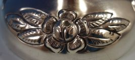 Aztec Rose by Maciel Mexican Sterling Silver Candlestick Pair #0162-13 (#1864) image 3