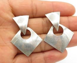 MEXICO 925 Silver - Vintage Smooth Multi-Shape Linked Drop Earrings - E7497 - $31.00