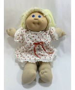 Vtg 1985 Cabbage Patch Kids Girl Doll Yellow Blonde Hair w/Dress Outfit ... - $19.79