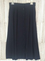 Bentley Women's Vintage Button Front Skirt w/Elastic Waist (Black, 13/14) - $11.64