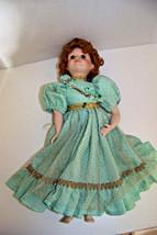 Vintage 1992 Seymour Mann's blond pouting little girl porcelain Doll - $12.32