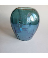 Easter Teal Odyssey Candle Holder Hand-blown Glass Tealight Votive Party... - $55.22