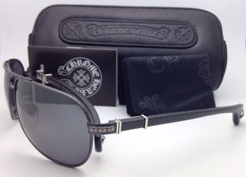 2d49027d460a Polarized CHROME HEARTS Sunglasses GRAND BEAST II MBK-WEB MCF Black w Carbon