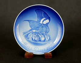 """Bing & Grondahl 6"""" Mother's Day Plate, 1970, Mother Sparrow & Chicks, #P... - $6.81"""