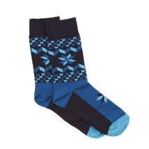 HAPPY SOCKS UNISEX Snowflakes print BLUE MULTI Combed Cotton FREE SHIPPING - $21.60