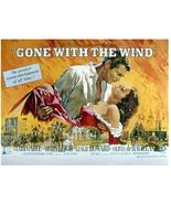 Gone With The Wind Poster 24x18 inches Rhett and Scarlett  Atlanta Burning - $39.99