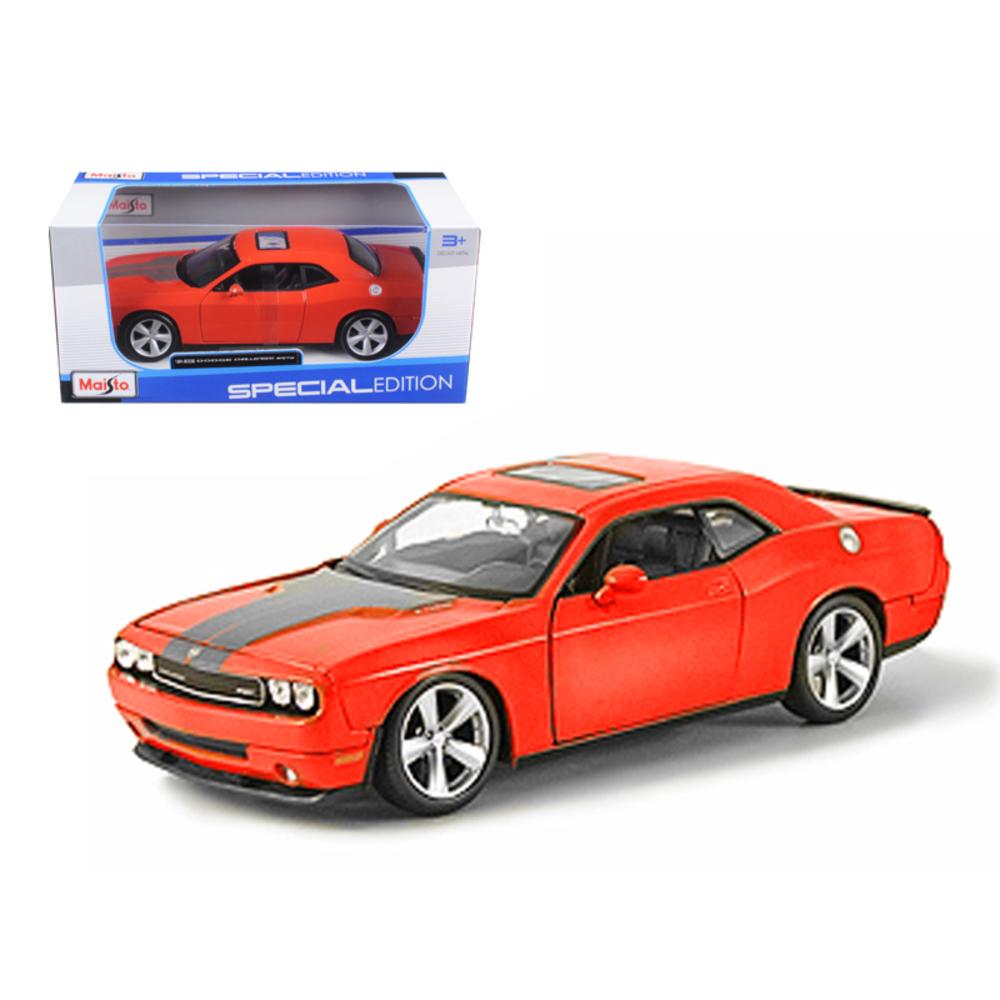 2008 Dodge Challenger SRT8 Orange 1/24 Diecast Model Car by Maisto 31280or