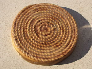 "Coiled Rope Concrete Stepping Stone Mold 16""x3"" Make For Less Than a Dollar Each"