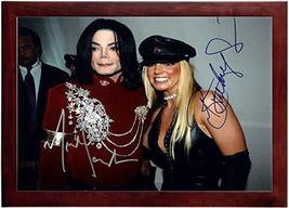 Britney Spears and Michael Jackson Autograph Replica Super Print - Lands... - $79.99+