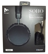 NEW MVMT SOHO BLUETOOTH WIRELESS RECHARGEABLE STEREO HEADPHONES BLACK - $39.55
