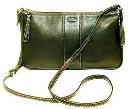 Coach Slim Demi Black Leather Shoulder Bag #7578 - $41.78