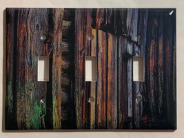 Color Barn Wood Light Switch Outlet Toggle Rocker Wall Cover Plate Home Decor image 11
