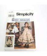 Simplicity 9706 Daisy Kingdom Dress Pinafore Doll Size 3 4 5 6  Pattern ... - $11.99