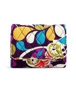 Vera Bradley Plum Crazy Petite Trifold Card Case Holder Mini Wallet NWT - $24.26