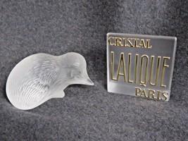Vintage Lalique France Frosted Crystal Art Glass Hedgehog - $173.25
