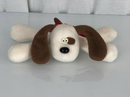 """VTG HALLMARK ARCHIE PUPPY DOG WHITE BROWN SPOT RODNEY FRIEND STUFFED TOY10"""" - $15.83"""