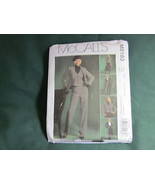 MCCALLS MISSES TOTAL OUTFIT VEST BLAZER PANTS SEWING PATTERN SZ 8 TO 14 - $5.50