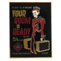 Disney Parks Hollywood Hotel Tower of Terror Your Room is Ready Pin Bellhop - $24.70
