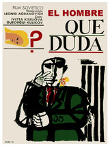 El hombre que duda vintage film POSTER.Graphic Design.Wall Art Decoratio... - $10.89+