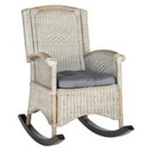 Outdoor Rocking Chair Rattan Patio Backyard Garden Garage Antique Finish... - $221.39