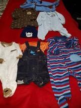 lot of 6 newborn boy outfits - $7.70