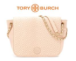Tory Burch Logo Marion Quilted Leather Flap Shoulder Bag Handbag Brand N... - $495.00