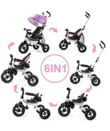 6-In-1 Kids Baby Stroller Tricycle Detachable Learning Toy Bike-Pink - $178.52