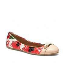 Coach Women's Red Delphine Poppy Push Lock Ballet Flats Shoes size 9 - $69.99