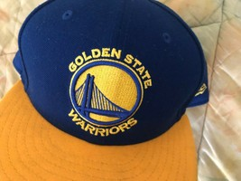 Era Golden State Warriors 59FIFTY Fitted Hat Yellow/Royal Blue Size 7 3/8 - $16.81