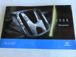 2008 Honda Accord Warranties Manual Book Guide OEM Factory - $1.94