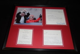 Nancy & Ronald Reagan 16x20 Framed ORIGINAL 1975 Recipe Set & Photo Display - $148.49