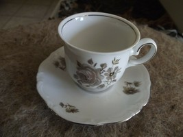 Winterling Empress Platinum demi cup and saucer 4 available - $3.12