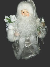 Santa Claus Vintage Christmas Tree Topper Father Christmas Centerpiece W... - $29.69