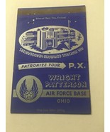Vintage Matchbook Cover Matchcover Wright Patterson Air Force Base OH Ohio - $5.23