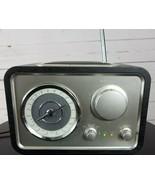 Crosley Solo Tabletop Radio CR221 AUX MP3 Line In Black Finish  - $44.99