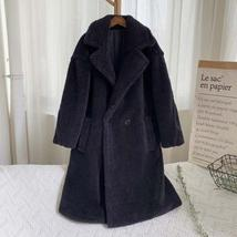 Luxury Fashion Leopard Long Thick  Faux Fur Teddy Bear Coat image 9