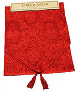 Holiday-6-ft RED TABLE RUNNER DOOR SWAG DRESSER SCARF-Christmas Party De... - $6.83