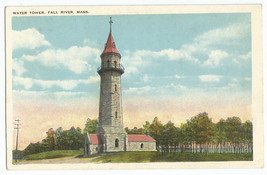 Fall River MA Water Tower Vintage Postcard - $8.95